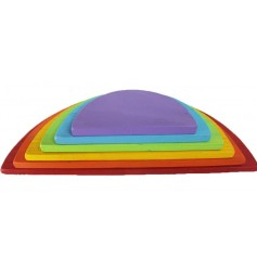 Endow Toys 7 piece Rainbow Stacker Semicircles - Colored