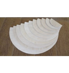 Endow Toys 12 pieces Rainbow Stacker Semicircles - Natural