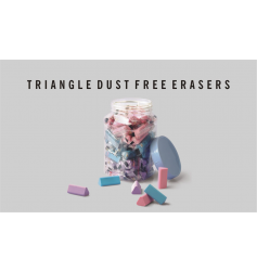 Doms Triangle Dust Free Eraser Jar (Pack of 50)
