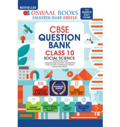 Oswaal CBSE Question Bank Chapterwise & Topicwise Includes Objective Types & MCQ's Social Science for Class - 10 (for exam 2021)