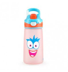 Rabitat Snap Lock Sipper Bottle (410ml, Pink Sparky)