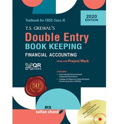 Sultan Chand T.S. Grewal's Double Entry Book Keeping (E) For Class 11 (2020 Edition)