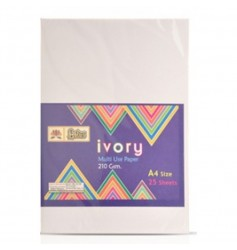 Lotus Ivory Paper (25 Sheets) - Full Size 210 GSM