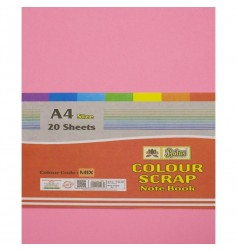 Lotus Pastle Sheets A4 Size Assorted Colors (Project Paper Sheets)-Unruled (Pack of 20 Sheets)