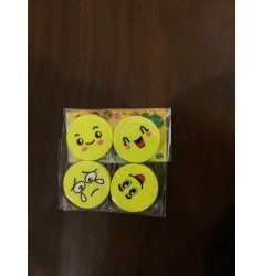 Smiley Erasers (Set of 4)