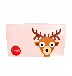 3 Sprouts Resuable Snack Bag (Pack Of 2) - Deer