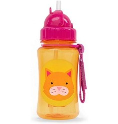 Skiphop Zoo Straw Bottle - Cat