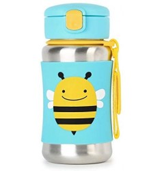 Skiphop Zoo SS Straw Bottle - Bee