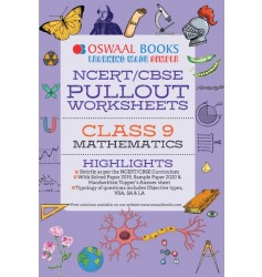 Oswaal NCERT & CBSE Pullout Worksheets Mathematics for Class - 9