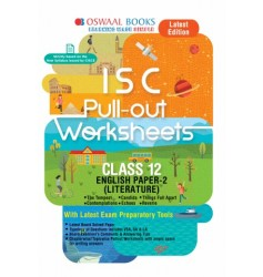 Oswaal ISC Worksheet English Paper- 2 Literature for Class - 12