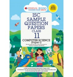 Oswaal ISC Sample Question Paper Computer Science for Class - 11