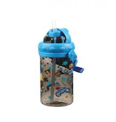 Smily Kiddos Holiday Sipper Water Bottle (Black)