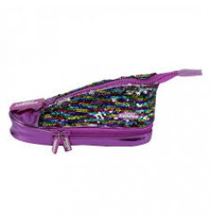 Smily Kiddos Sneaker Pencil Case  (Purple)