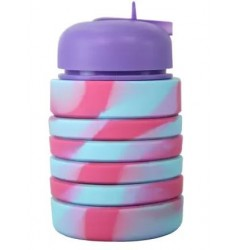 Smily Kiddos Silicon Expandable Purple Bottle (Purple)