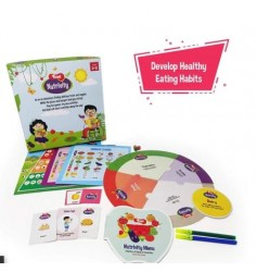 Toiing Nutrivity 4-in-1 Game for Food and Fitness Along with Fun Learning Activities for 3 - 5 Year Old Kids