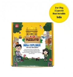 Toiing Puzzletoi - India Explorer 3 in 1 Play and Learn Kit