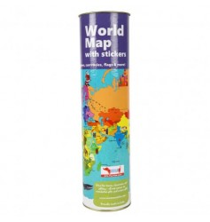 Coco Moco Kids World Map Activity Kit with Reusable Stickers
