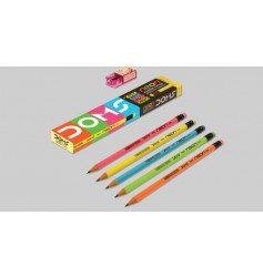 Doms Neon Rubber Tipped Graphite Pencil
