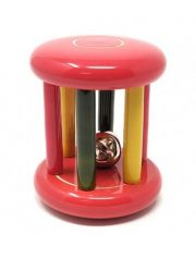 Ariro Small tumbler rattle with bell - Red