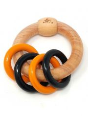 Ariro Circular rattle with colored rings