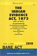 Commercials's The Indian Evidence Act, 1872 (2019 Edition)
