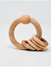 Ariro Circular rattle with wooden rings