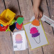 My House Teacher Color Pattern Learning ICE Cream Sundae Activity Set