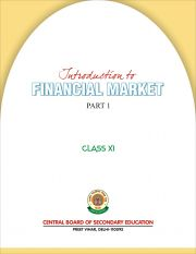 CBSE Introduction to Financial markets Part 1 - A Textbook for Class 11