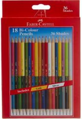 Faber-Castell Bi-Colour Pencil - 36 Colours (Pack of 18)