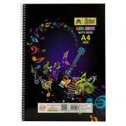 Lotus Spiral Coloured Notebook A4 Size - Ruled (42 Pages)