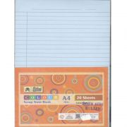 Lotus Pastle Sheets-A4 Pack of Assorted Colours - Ruled (20 Sheets)