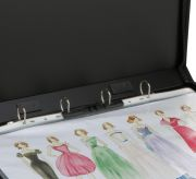 Designers A3 Ring Portfolio with Zipper Closure, 4D-Ring (AR2A3), FREE!! 5 Sheet Protector A3 size