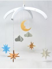 Ariro Wooden Mobile- Night Sky