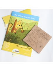 The Jackal and the Drum - Workbook and DIY puzzle - 4 to 7 yrs