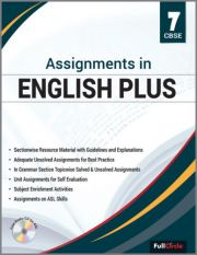 Full Marks Assignments in English Plus For Class 7