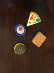 Food Shaped Erasers (Pack of 4)
