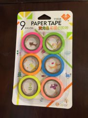 Flouroscent Paper Tapes (Set of 6)