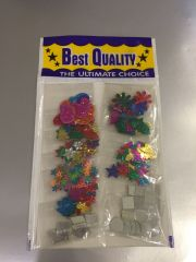 Decorative Material (Mirrors, Stars, Flowers, Leaves etc.) (Pack of 12)