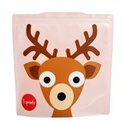3 Sprouts Resuable Sandwich Bag (Pack Of 2) - Deer