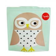 3 Sprouts Resuable Sandwich Bag (Pack Of 2) - Owl
