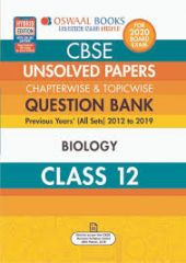Oswaal CBSE Unsolved Papers Chapterwise & Topicwise Biology for Class - 12