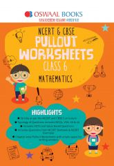 Oswaal NCERT & CBSE Pullout Worksheets Mathematics for Class -6 (for 2021 Exam)
