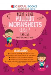 Oswaal NCERT & CBSE Pullout Worksheets English for Class -7 (for 2021 exam)