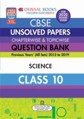 Oswaal CBSE Unsolved Papers Chapterwise & Topicwise Science for Class - 10