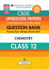 Oswaal CBSE Unsolved Papers Chapterwise & Topicwise Chemistry for Class - 12