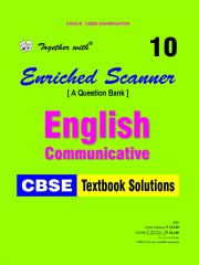 Rachna Sagar Together With Enriched Scanner English Communicative NCERT Textbook Solutions for Class 10