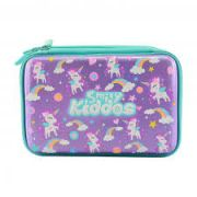 Smily Kiddos Fantasy Fancy Double Compartment Pencil Case (Purple)