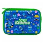 Smily Kiddos Fantasy Fancy Double Compartment Pencil Case (Blue)